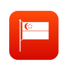 flag of singapore icon digital red vector image