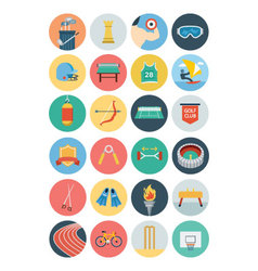 Flat sports flat icons 3 vector