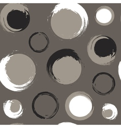 Grunge circles on grey brown or taupe background vector image vector image