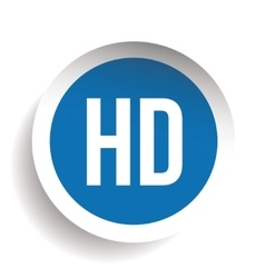 HD button - High Definition vector image