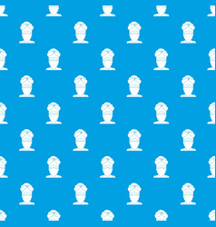 indian man pattern seamless blue vector image vector image