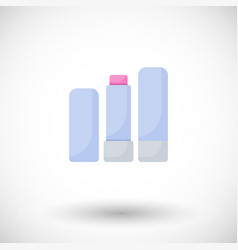 Lip balm flat icon vector