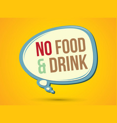 No food and drink text in balloons vector