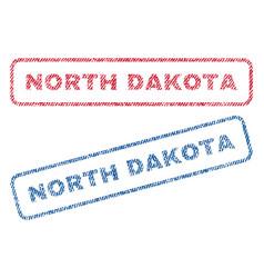 North dakota textile stamps vector