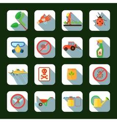 Pesticides square icons set vector