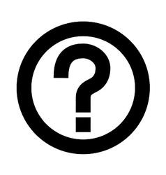 Question Mark Symbol vector image vector image