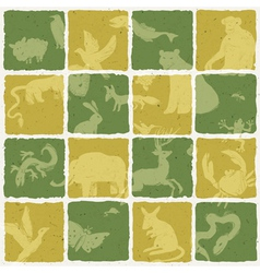 seamless zoo themed pattern vector image