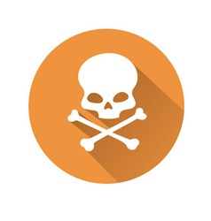 Skull symbol vector image vector image