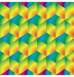 Bright cubes background vector image