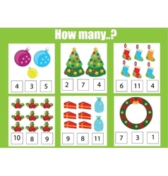 Counting educational children game kids activity vector image