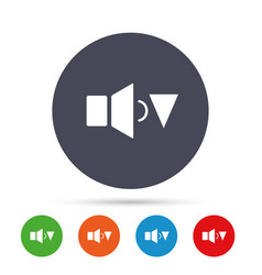 Speaker low volume sign icon sound symbol vector
