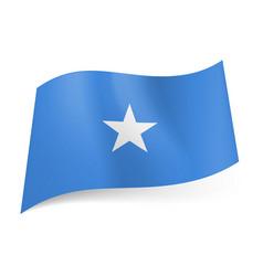 National flag of somalia white star in center of vector