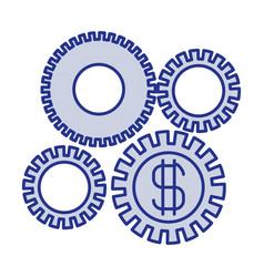Blue silhouette of economic development graphic vector