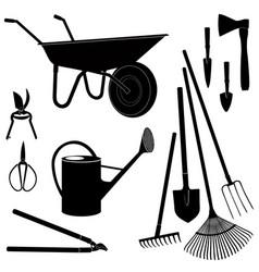 Gardening tools isolated garden equipment vector