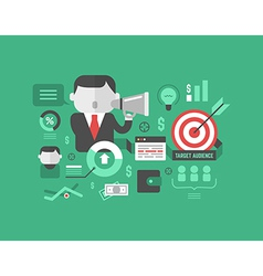 Target audience digital marketing and advertising vector