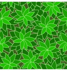 Abstract green leaf plant seamless background vector