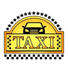 Yellow taxi blazon vector