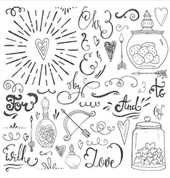 Romantic elements vector