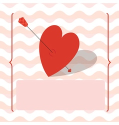 Card with heart vector