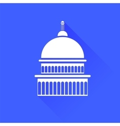 Capitol icon vector