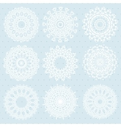 Lace snowflakes pattern vector