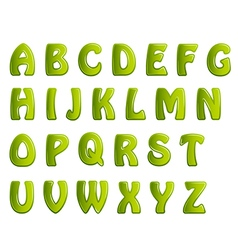 Green shiny letters holiday fonts vector