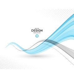 Abstract background gray and blue wavy vector