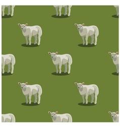 Seamless pattern sheep green vector image