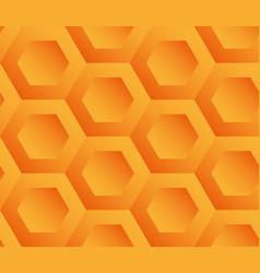 Abstract background orange hexagons vector