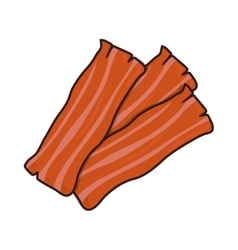 Bacon strip food vector