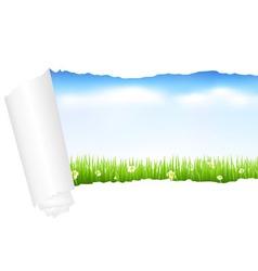 beautiful green landscape vector image vector image