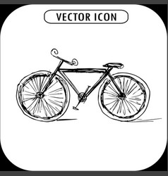 bicycle hand drawn icon vector image