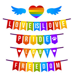 bright pride flag lgbt rainbow color vector image