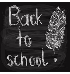 Chalk drawn background vector