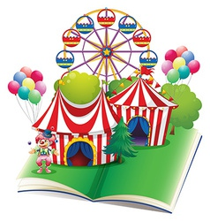 Circus book vector image vector image