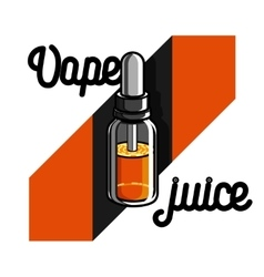 Color vintage vape e-cigarette emblem vector