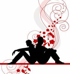 couple design vector image vector image
