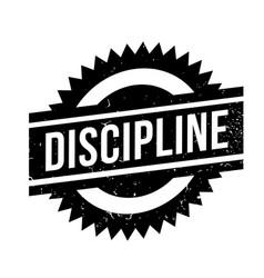 Discipline rubber stamp vector