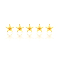 Five gold star vector