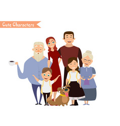 Happy family in the white background vector