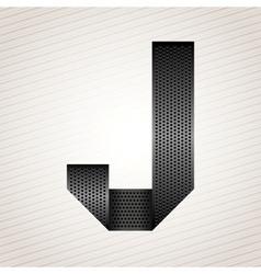 Letter metal ribbon - J vector image vector image