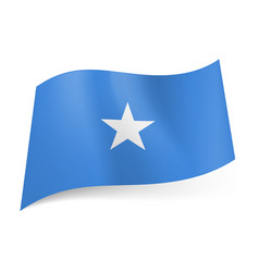 National flag of somalia white star in center of vector