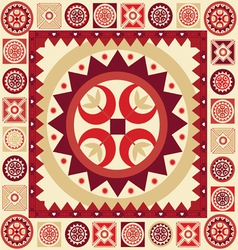 Ornamental pattern with many details vector image vector image