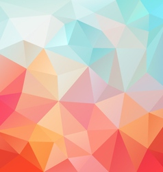 Pastel pink blue abstract polygon triangular vector