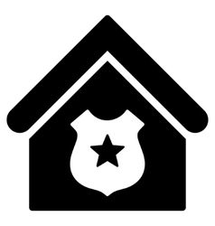 Police office flat icon vector