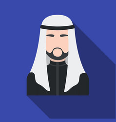 sheikh icon in flat style isolated on white vector image vector image