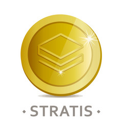Stratis icon as golden coin vector