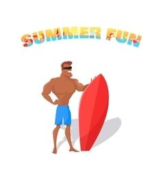 Summer Fun Banner Concept Design vector image