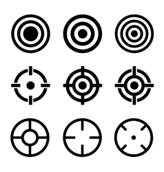 Target icons set on white background vector