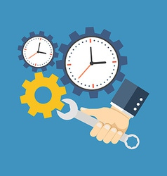 Time management concept flat design isolated on vector